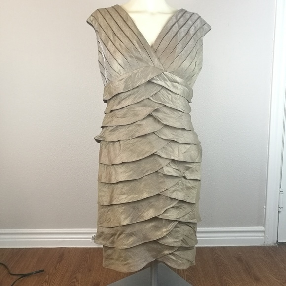 Adrianna Papell Champagne Dress